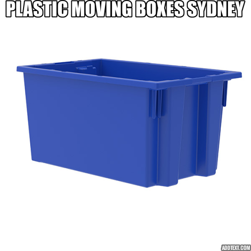 Plastic packing boxes for moving in Sydney by Koala Box