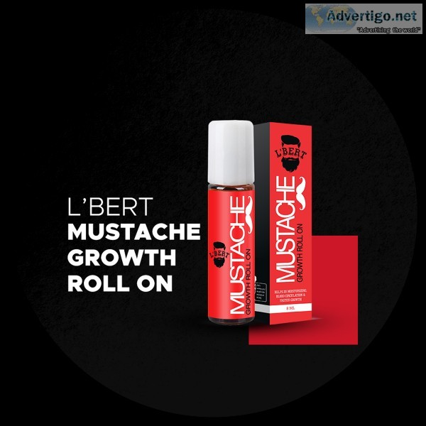 Shop Mustache Growth Roll-On for men online from LBERT