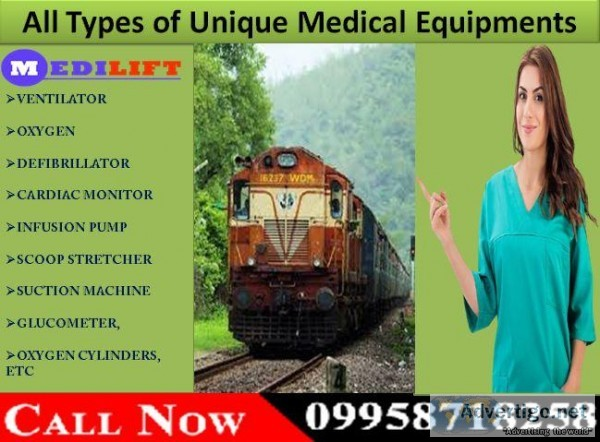 Get Train Ambulance in Raipur with Fastest and Safest Medical Se