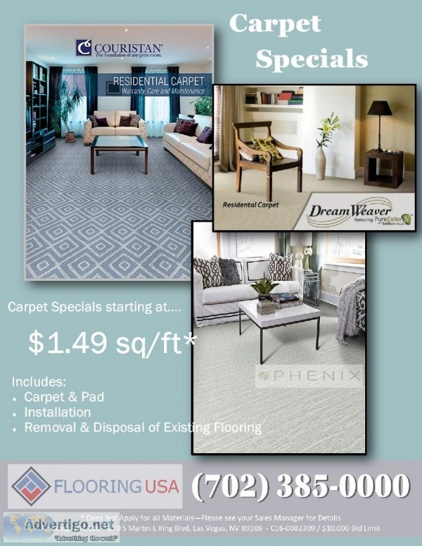 Carpet Specials at Flooring USA