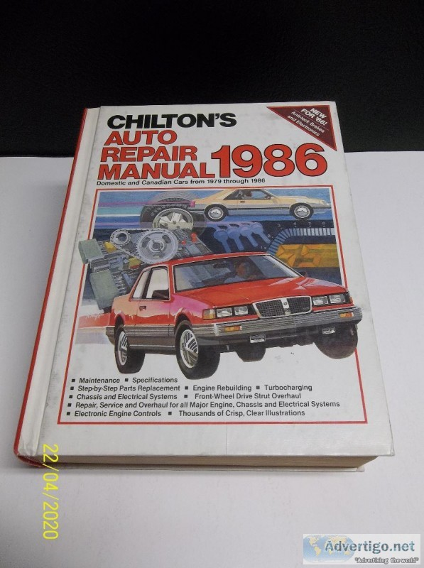 CHILTON&rsquoS Auto Repair Manual 1986