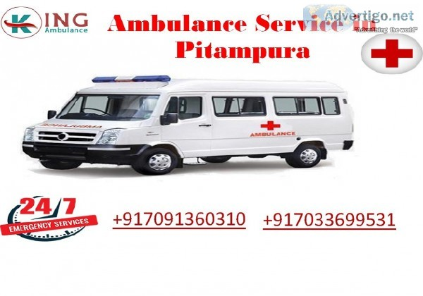 Get Ambulance Service in Pitampura with Full Medical Facilities