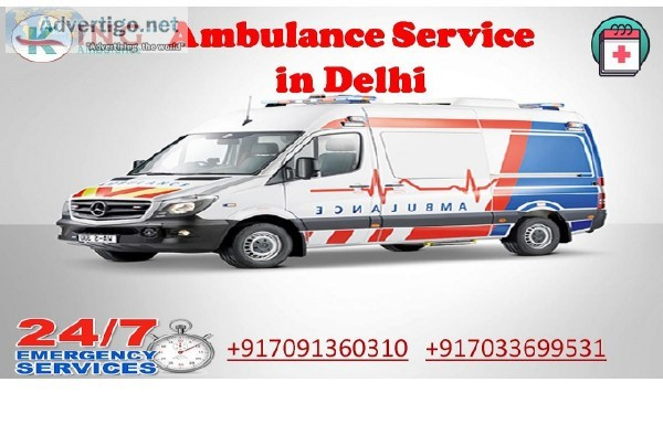 Hired Inexpensive Ambulance Service in Delhi