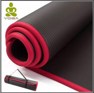 High Quality 10MM Extra Thick NRB Non-slip Yoga Mats with Bandag