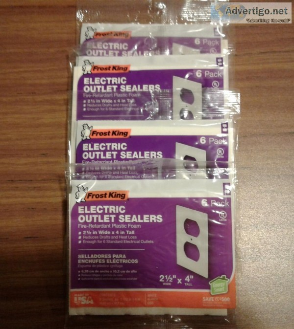FROST KING 6 PACK ELECTRIC OUTLET SEALERS-4