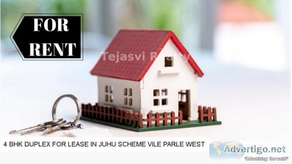 4 bhk duplex for rent in juhu  Tejasvi Realty