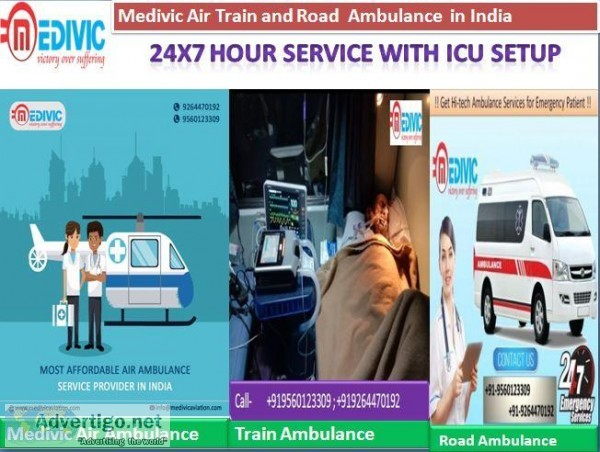 Medivic ICU Ambulance Service in Chanakyapuri with Low Fare
