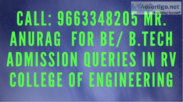 96633482O5 RV COLLEGE OF ENGINEERING Bangalore Admission through