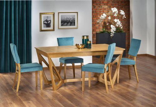Brenda Honey Oak Wood Wide Extending Dining Table  ChicParadisLu