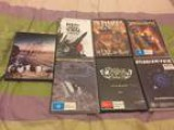 7 Brand New Unsealed Metal Band Music DVDs