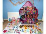 WINX Huge lot  dolls full-size house Alfea College plushies