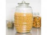 Giant Libbey Glass Barrel with Lid (20 ltr  5 gal) (Homestead)