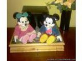 RARE Vintage Porcillian Musical Mickey and Minnie - Price