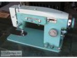 Older model quotWhite quot sewing machine with cabinet includ