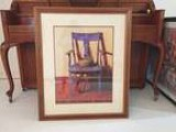 Framed Print &quot The Blue Chair &quot by Ned Young 32&quot x 2