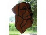 Stained Glass Golden Retriever Head