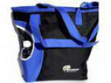 Pickleball Marketplace Zipper Top Tote Bag - Black and Royal Blu