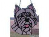 Stained Glass West Highland White Terrier Head