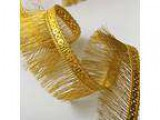 1-14&quot GOLD Hologram Sequin on Metallic Fringe by YD EXP-IR69