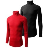 U-zem 2 in 1 black and red turtle neck t