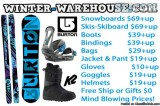 BURTON SNOWBOARD  SKIS  HELMET  JACKET BOOTS  BINDINGS on SALE