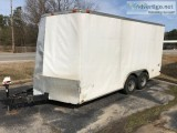 Diamonds Cargo x. dual enclosed utility trailer car hauler n