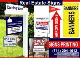 Real Estate Signs printing service