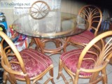 BACCA Rattan Dinning table with  chairs