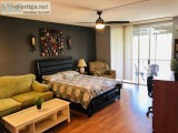 Fully Furnished Studio Highly Upgraded w Great Amenities
