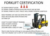 OSHA Compliance forklift certification Training