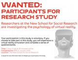WANTED Participants for research study