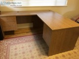 Desk side table and a credenza