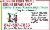 SNOW THROWER REPAIR IN MCHERNY IL