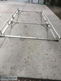 Aluminum pipe rack for small pick up truck